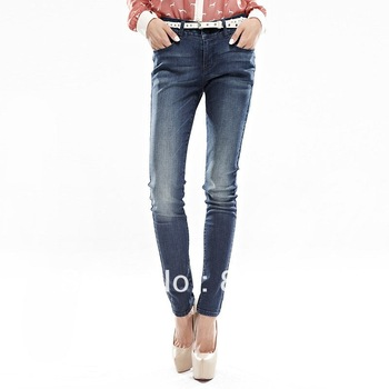 VANCL Yaroslava Skinny Tapered Jeans Fashion Straight Skinny Pants VJ118 Women Blue 25-30 FREE DELIVERY