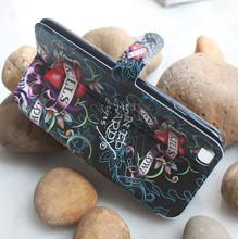 Оптовая продажа эд харди для искусственная кожа флип чехол для iphone 6 плюс 5.5 держатель кошелек с стенд телефон сумка чехол для iPhone6 плюс