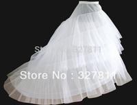 Good price and quality!  Wedding  petticoat big train crinoline  3 layers hard yarns  2 hoops  rings underskirt