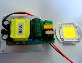 50W High Power LED Light lamp Driver+50W White LED Lamp Chip 6000-6500K