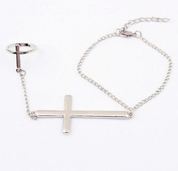 New Arrival Fashion  Cross connecting bracelet punk wind free shipping RuYiSL097
