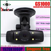 "GS1000 GPS Car DVR Video Recorder With 1.5""LCD H.264 Full HD 1920*1080 30FPS Ambarella/HDMI"