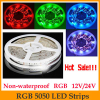 Promotion!!! High quality 5M 5050 RGB LED Strip SMD 60led/m indoor non-waterproof