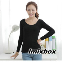 2013 Fashion Lady's Colorful modal T shirt long sleeve Free Shipping W4002