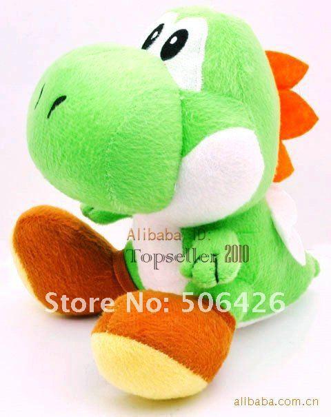 10PCS/LOT Wholesale - Super Mario Bros Brothers 7 inch Yoshi Plush Toy Dolls Figure free shipping(China (Mainland))