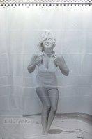 Brand New Marilyn Monroe Bathroom Eva Shower Curtain Free 12 Hooks