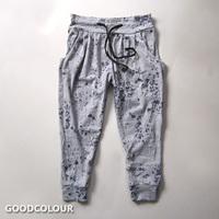 2014 New Top Loose Women Pants free Shipping Normic Splash-ink Drawstring Harem Pants Baggies Casual Sports Capris Tie-dyeing