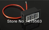 Free shipping,ONE PIECE RED Digital Voltmeter DC 2.5-30V Motorcycle Waterproof Voltage Panel Volt Meter  40x25x23mm #00015
