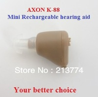 Best sale AXON K-88 mini  in ear rechargeable sound amplifer Adjustable Tone ITE Hearing Aid Deaf Aid  Sound Enhancement