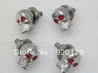 4 x Chrome Skull Skeleton Bolts for Harley Chopper Sportster Dyna Softail