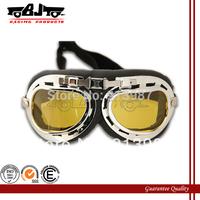 BJ-GT-001 1x MOTORCYCLE GOGGLES AMBER STEAMPUNK HALF HELMET FLIGHT AVIATOR EYEWEAR GLASSES