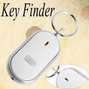 1pcs LED Key Finder Locator Find Lost Keys Chain Keychain Whistle Sound Control wholesale Dropshipping