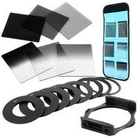 9Size Metal Adapter Ring 6 Cokin P Series Filter Set ND2 ND4 ND8 G ND2/ 4/ 8   49mm 52mm 55mm 58mm 62mm 67mm 72mm 77mm  82mm