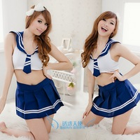 Free shipping sexy schoolgirl uniform Costume costumes role playing the uniform temptation photography services school wear 7007