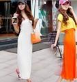 IMIXBOX Bohemian beach dress Floor Length Modal Candy Color W4022
