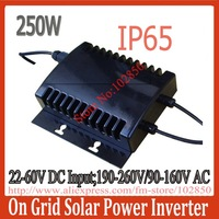 2013New Arrival Water Proof Grid Tie Solar Inverter,Out Door Installation Design, IP65 stackable small on grid inverter