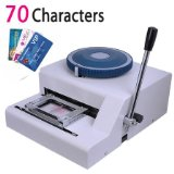 High Quality Professional ID Membership PVC Card Embosser ,Plastic Card Manual Embossing Machine 70characters