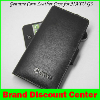 Jiayu G3 100% Genuine Cow Wallet Leather Case For JY-G3 MTK6577 Android 2013 New Product 2 Colors In Stock Freeshipping