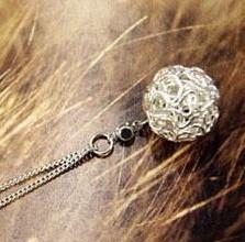 2014  Korean Jewelry Personalized Fashion Silver Unique Ball Necklace XY-N1