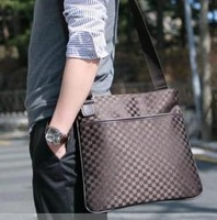 2014 star magazine check women's handbag messenger bag male bags basic bag G33