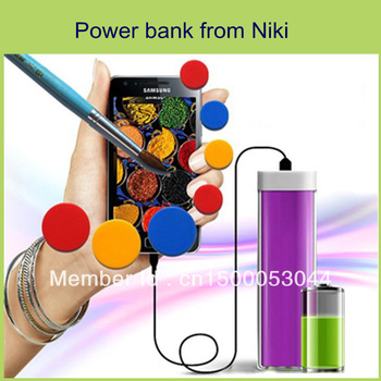 Free shipping!Emergency/portable charger  power bank lip stick type for mobile phone/psp/iphone/ipad/DV/mp3/mp4/laptop/camera