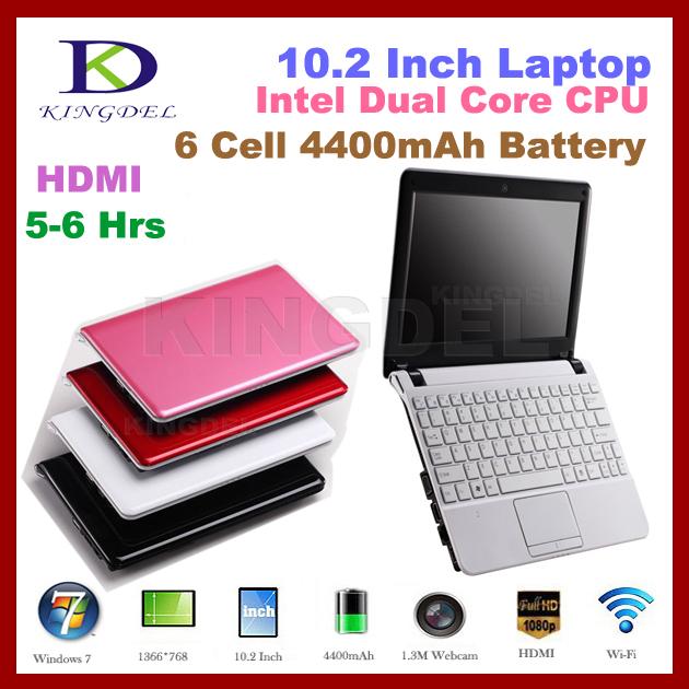 White,Pink,Red,Black 10 inch Netbook Atom N2600 Dual Core,VGA,HDMI,6 cell 4400MAH Battery ,Mini Laptop 4GB/500GB(Hong Kong)