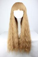 70cm Long Light Brown Beautiful lolita wig Anime Wig