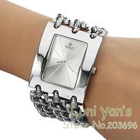 2014 New Fashion Bracelet Watch Quartz Men Women Unisex Dress Wristwatch Free Ship