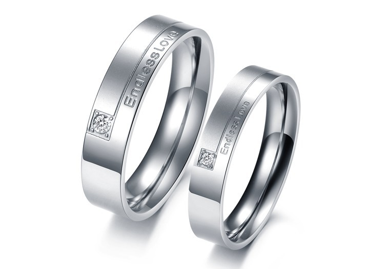 OPK JEWELRY Gift Box Packing NEW STYLE Titanium steel ring Lover Couple ring Endless Love one