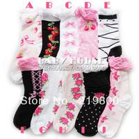 Sweet bubble children socks  female children  cotton socks for 7 - 16 years girl