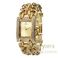 Luxury Watch Big Band Crystal Gold Quartz Watches Men Women Wriatwatch