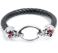 10Pcs/Lot Free Shipping Skull Bracelets Fashion Men's Bracelets Bangles