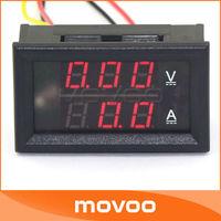 DC 100V 50A 2in1 LED Meters DC Volt Meters Amp Ampere Gauge 2in1 Dual Display Red LED Current Meter Car Battry Voltage Monitor