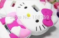 New Arrival Cute Cartoon 3D Bowknot hello kitty Case Cover For Motorola Defy MB525 ME525 ME526,1pcs/lot