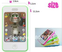 15pcs/lot iphone touchscreen children learning Machine toy English iphone 4s learning machine toy