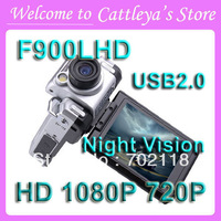 Car DVR Recorder F900LHD With 2.5'' LCD(4:3) 1080P USB2.0 Wide Angle 120 degree Night Vision Car Camera Russian no box