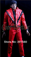 2013 NEW Michael Jackson Collection Action figure toys/dolls PVC Removable Model Toy Red smile