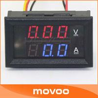 Electrical Tester DC 100V 50A  2in1 Volmeter Ammeter Dual Red Blue LED Digital Display Voltage Ampere Meter