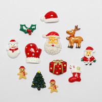 Christmas Fridge Magnets Creative cute Santa Christmas tree stockings Deer decoration refrigerator magnets on the fridge
