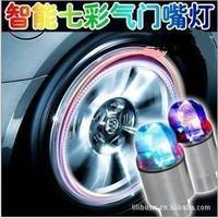 "4pcs/lot Car Refitting Decoretive ""Hot Wheels"" LED Blinking Flashy Tire valve caps for Car, bike, motocycle, with bonus battery"