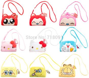"Anime Plush Toy SpongeBob Messenger Bag for Children Gifts,6"" x 7.5"",1PC"
