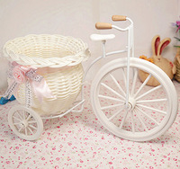 1pcs Free shipping PE storage rattan tricycle artificial flowers wedding decoration living room dining table
