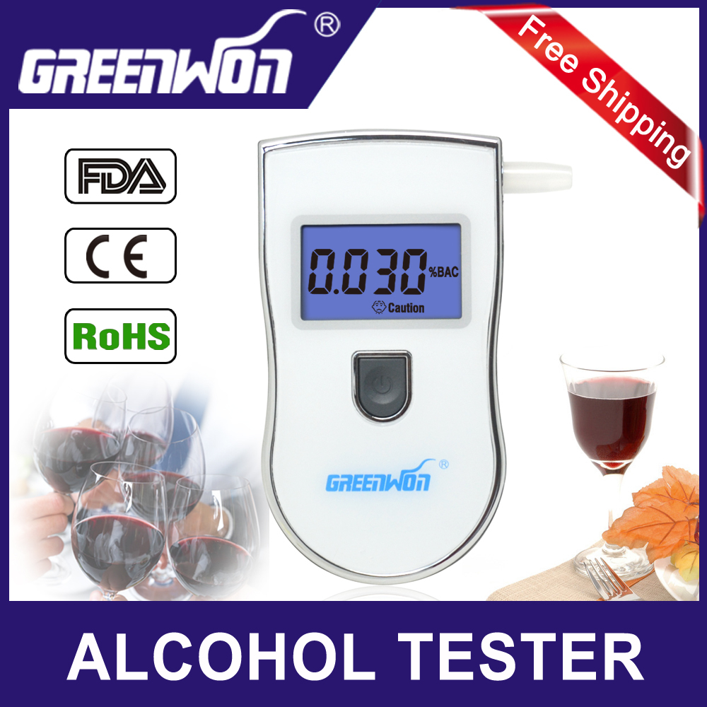 2014 new patent portable digital mini breath alcohol tester wholesales a breathalyzer test with 5 mouthpiece AT818 Free shipping(China (Mainland))