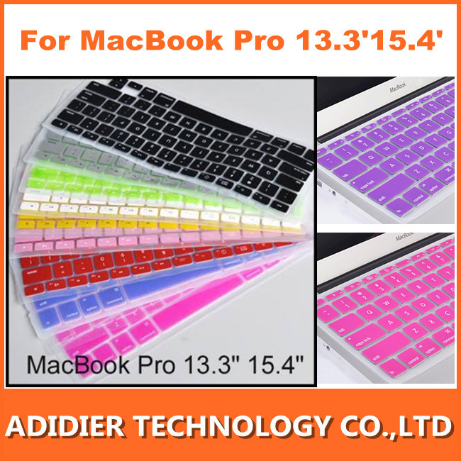 wholesale 50pcs/lot 2013 Soft Keyboard Case Cover Protector for Apple MacBook Pro 13.3&quot; 15.4&quot; Mac Book(China (Mainland))
