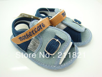 Baby boy sandal cotton first walkers shoes toddler shoes size 2 3 4 in US