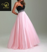 Tulle And Chiffon Fabric 100% Crystal Handwork Sweether Sexy Prom Dress OL102250