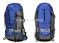Free Shipping Big Professional Climbing Hiking Camping Backpacks Waterproof Outdoor 55L Mountaineering Bag for Women&Men