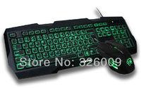 light gaming keyboard + light gaming mouse USB Wired LED Computer Gaming Keyboard 100% Original Genuine Pravix 6065+3049B