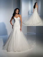 Free Shipping Appliques Ruched Empire Sweetheart Strapless Sexy Lace Plus Size Wedding Dresses 2013 New Arrival CH2109