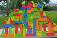 New arrival children's eva  model foam building blocks soft blocks big building blocks educational classic  toys (108 piece)